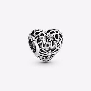 Pandora Openwork Spring Heart Charm